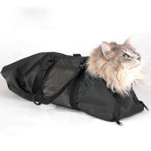 猫用風呂バッグ シャワー袋 爪切り 耳掃除 注射固定袋 ケアバッグ ペット清潔美容袋 スクラッチ防止
