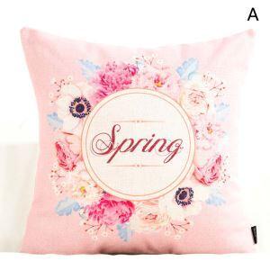 クッションカバー 抱き枕カバー 腰枕カバー 北欧風 リネン 花柄 6柄