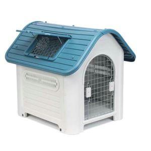 ペットハウス 犬の部屋 室外 犬ケース 取り外し可能 防雨 日焼け止め 通気 ドア付き 天窓付き
