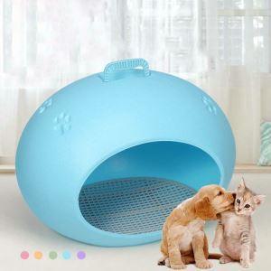 ペットベッド ペットハウス ペットの巣 ケージ 犬猫用 通気 ドーム型
