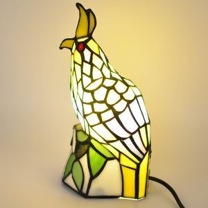 テーブルランプ ステンドグラスランプ 枕元スタンド ナイトライト 鳥型 1灯