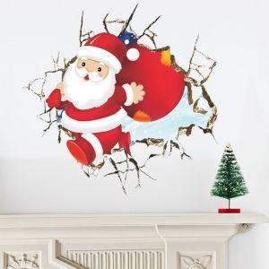 3Dウォールステッカー 立体DIY 転写式ステッカー PVCシール シート 剥がせる クリスマス サンタクロース