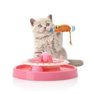 猫のおもちゃ 游び盤 回転ボール 鈴 ネズミおもちゃ付き 猫じゃらし ぐるぐる ストレス解消 運動不足対策