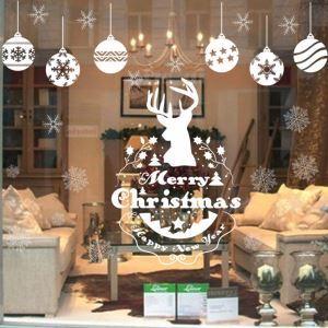 ウォールステッカー 転写式ステッカー PVCシール シート式 壁窓 剥がせる クリスマス柄 雪花・ナトカイ