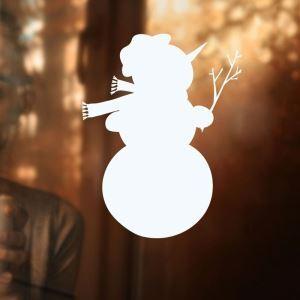 ウォールステッカー 転写式ステッカー PVCシール シート式 壁窓 剥がせる クリスマス柄 雪だるま