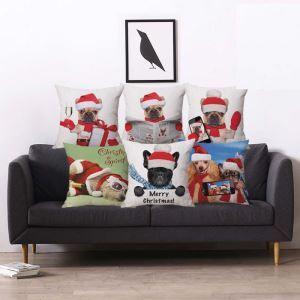 クッションカバー 抱き枕カバー 枕カバー ギフト クリスマス 動物柄 Christmas 5色