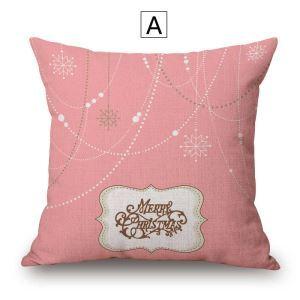 クッションカバー 抱き枕カバー 枕カバー ギフト 綿麻 クリスマス柄 Christmas 4色