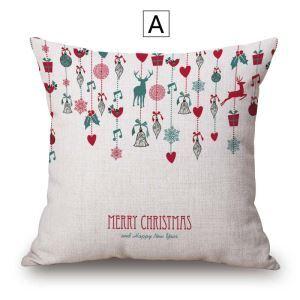 クッションカバー 抱き枕カバー 枕カバー ギフト 捺染 クリスマス柄 Christmas 4色