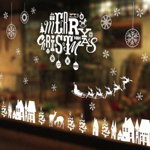 ウォールステッカー 転写式ステッカー PVCシール シート式 壁窓 剥がせる クリスマス柄 メリークリスマス