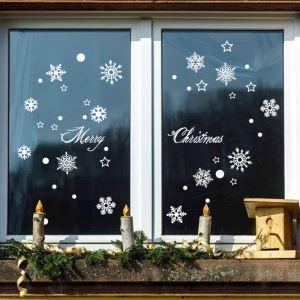ウォールステッカー 転写式ステッカー PVCシール シート式 壁窓 剥がせる クリスマス柄 雪花