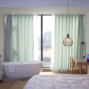 遮光カーテン オーダーカーテン 和風 無地柄 シェニール 3級遮光カーテン(1枚)