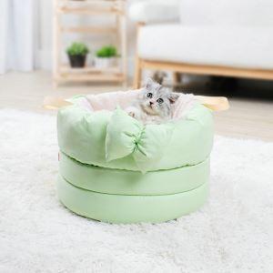 ペットベッド ペットハウス ペット用寝床 蝶結び ソフト 秋冬 暖かい 猫用