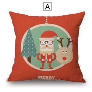 クッションカバー 抱き枕カバー 枕カバー ギフト クリスマス サンタクロース柄 Christmas 4色