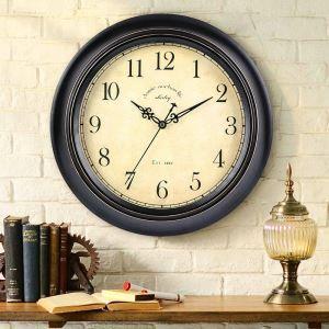 時計 壁掛け時計 静音時計 クロック 木質 北欧 レトロ シンプル ZT019HS