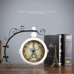時計 壁掛け時計 静音時計 クロック 金属 北欧 レトロ インテリア 創意 ZT022