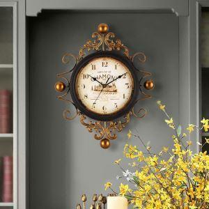 時計 壁掛け時計 静音時計 クロック 金属 北欧 レトロ インテリア 創意 ZT061