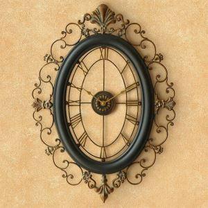 時計 壁掛け時計 静音時計 クロック 金属 北欧 レトロ インテリア 創意 h015