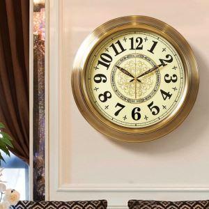 時計 壁掛け時計 静音時計 クロック 金属 北欧風 豪華 レトロ インテリア HSG8016B110-f