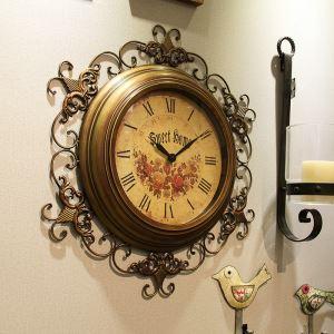 時計 壁掛け時計 静音時計 クロック 金属 北欧風 レトロ インテリア ZT017TY