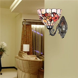 ティファニーライト 壁掛け照明 ステンドグラスランプ ブラケット  ウォールライト 8in 1灯