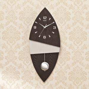 時計 壁掛け時計 静音時計 クロック 現代的 木質 葉形 創意 AP18022