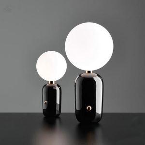 テーブルランプ スタンドライト 卓上照明 照明器具 枕元照明 ナイトライト ポストモダン 黒/金色 1灯