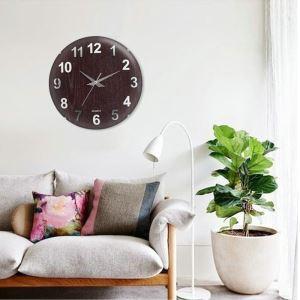 時計 壁掛け時計 静音時計 クロック 現代的 木質 円形 シンプル AW11033