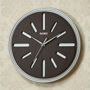 時計 壁掛け時計 静音時計 クロック 現代的 木質 円形 シンプル MW18051X