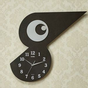 時計 壁掛け時計 静音時計 クロック 現代的 木質 鳥形 創意 MW18052