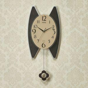 時計 壁掛け時計 静音時計 クロック 現代的 木質 振り子 MP18052