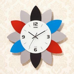 時計 壁掛け時計 静音時計 クロック 現代的 アクリル 花形 AW18005