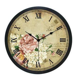 時計 壁掛け時計 静音時計 クロック プラスチック 北欧 レトロ インテリア 25cm SS1001