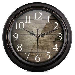 時計 壁掛け時計 静音時計 クロック 金属 北欧 レトロ インテリア 35/40cm F003