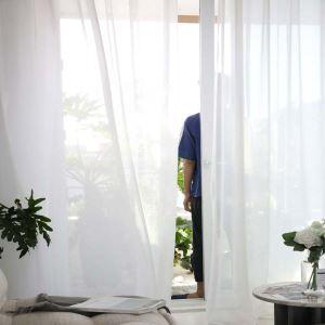 レースカーテン シアーカーテン 無地柄 シンプル オーダーカーテン(1枚)