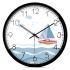時計 壁掛け時計 静音時計 クロック 金属 北欧 現代的 ヨット柄 インテリア 35cm CH444