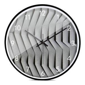 時計 壁掛け時計 静音時計 クロック 金属 北欧 現代的 波柄 インテリア 30cm ER54127