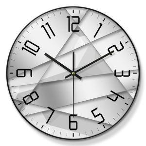 時計 壁掛け時計 静音時計 クロック 金属/PVC 北欧 現代的 インテリア 30cm ER54126