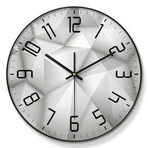 時計 壁掛け時計 静音時計 クロック 金属/PVC 北欧 現代的 インテリア 30cm ER54125