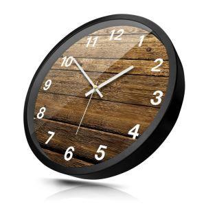 時計 壁掛け時計 静音時計 クロック 金属 北欧 現代的 インテリア 30cm H7004