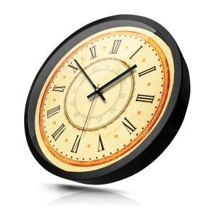 時計 壁掛け時計 静音時計 クロック 金属 北欧 レトロ ローマ数字 インテリア 30cm HB0072