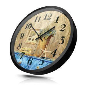 時計 壁掛け時計 静音時計 クロック 金属 北欧 レトロ 地中海風 インテリア 30cm HB0072