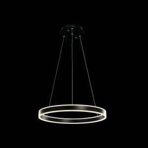 LEDペンダントライト 照明器具 天井照明 リビング照明 店舗照明 オシャレ 円形 LED対応 黒色 D60cm