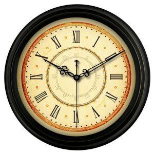 時計 壁掛け時計 静音時計 クロック 金属 北欧 レトロ インテリア 35cm F1/F3/F4/F5