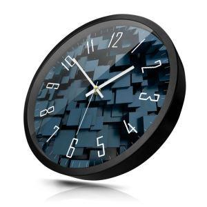 時計 壁掛け時計 静音時計 クロック 金属 北欧 現代的 インテリア 30cm HD0060