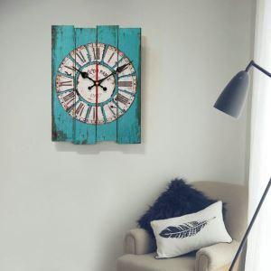 時計 壁掛け時計 静音時計 クロック 木質 北欧 レトロ 長方形 インテリア 30*40cm WG102