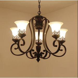 シャンデリア 照明器具 リビング照明 ダイニング照明 寝室照明 店舗照明 エレガント 5灯