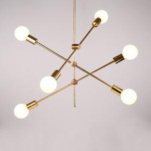 シャンデリア 照明器具 リビング照明 店舗照明 寝室照明 北欧風 魔豆型 2/4/6灯 金色