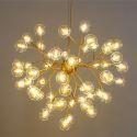 LEDペンダントライト 照明器具 リビング照明 寝室照明 店舗照明 北欧風 蛍型 金色/黒色 27/36/45/54/63灯