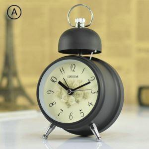 時計 置き時計 静音時計 クロック 金属 北欧風 レトロ 創意 インテリア N304