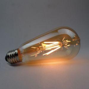 LED電球 エジソン電球 レトロ 口金E26 ST64 4W LED対応 6個入り